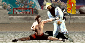 If the 1992 version of Mortal Kombat influences my son in any way, it'll probably be him trying this move on me. I'll stay ready.