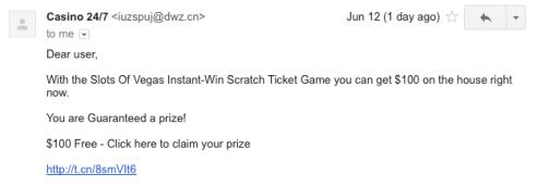 Casino Spam